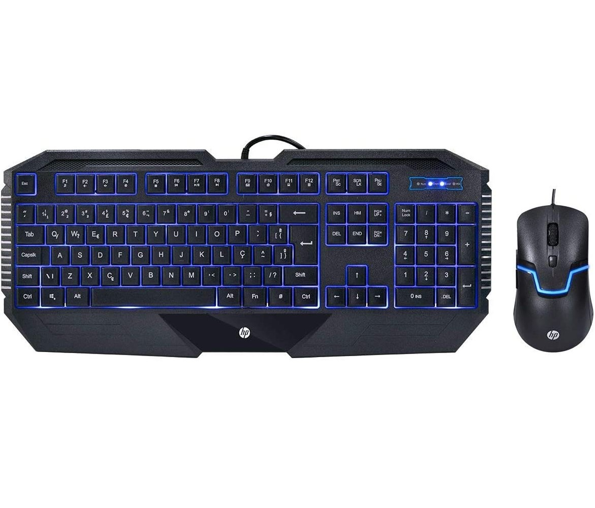 Kit Teclado E Mouse Hp Gk 1100 Gaming Led Usb