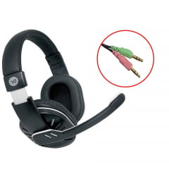 Headphone Headset Home P2 Com Microfone Preto 0181 Bright