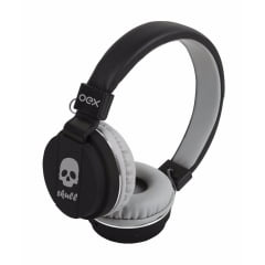Headphone Skull Ajustavel Com Microfone  Cinza Hp101 Oex