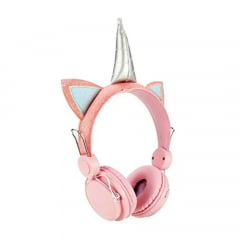 Headphone Stereo Plug P2 Unicornio Allface Rosa