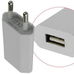 Carregador Usb 5v 1a 110/240v Branco Ad0396 Global