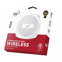 Carregador Wireless Para Dispositivos Com Tecnologia Qi Wq1wh Elg