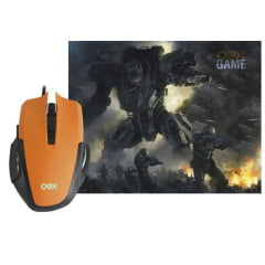 Combo Mouse E Mousepad Gamer 3200dpi Clash Mc103 Oex