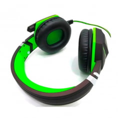 Headset Gamer P2 Para Ps4 Xbox One Notebook Macbook Microfone Preto E Verde Dex Df-50