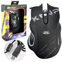 Mouse Gamer 6 Botoes 2400dpi Led Preto Kp-V30 Knup