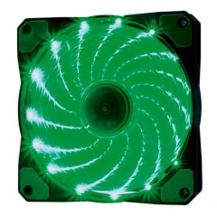Cooler Fan 15 Leds Verde F20 Oex