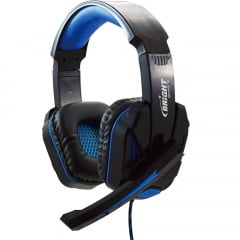 Headset Gamer Com Microfone Azul 0467 Bright