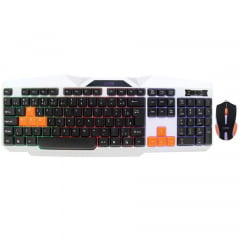 Kit Teclado E Mouse Gamer 2400dpi Backlight Ice Tm300 Oex