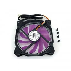 Microventilador Cooler Fan 120mm Led Roxo Dx-12f Dex