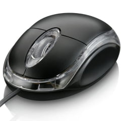 Mouse Optico Usb Preto Kpm-611 Knup