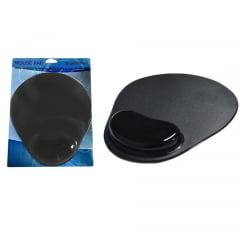 Mouse Pad Com Apoio Em Gel Preto Mp0006b Global