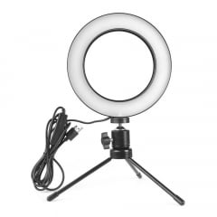 "Ring Light 6"" Fill Ligth Led Com Tripe 16 Centimetros"